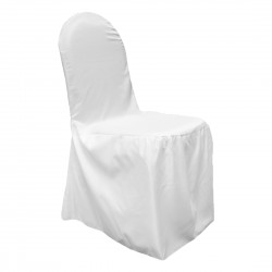 Satin Banquet Chair Cover White
