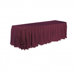 Table Skirt 13' Long Black
