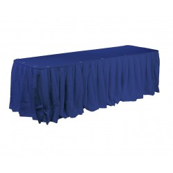 Polyester Table Skirt 17' Long Blue