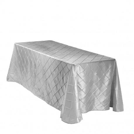 Banquet Tablecloth Pinktuck Silver