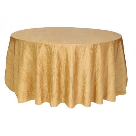 Round Tablecloth Krinkle Taffeta Gold