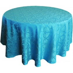Round Tablecloth Choping Damask Turquoise
