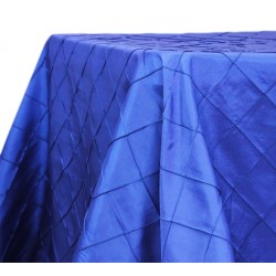 Tablecloth Pinktuck Royal Blue