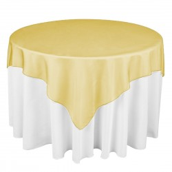 Organza Square Tablecloth  Yellow