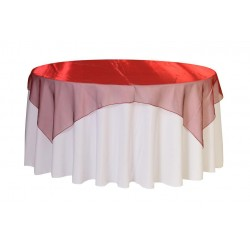 Organza Square Tablecloth  Red