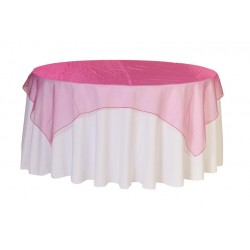 Organza Square Tablecloth  Fuchsia