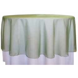 "Organza Round Tablecloth  96"" Green"