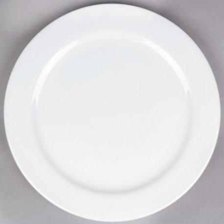 "White Rim China Chop Plate 12"""