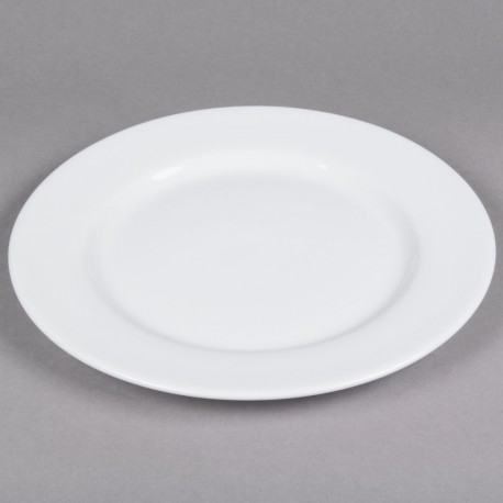 White Rim China Chop Plate 12""