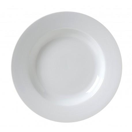 "White Rim China Soup Plate 9"""