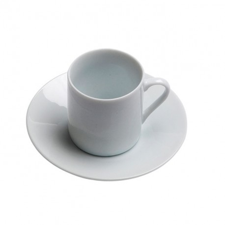 White Rim China Demitasse Cup and Saucer