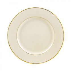 Ivory China with Gold Band Lunch Plate 9 ¼""