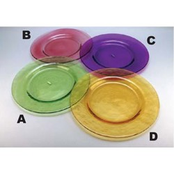 Colored Glass Dinner Plates 11""