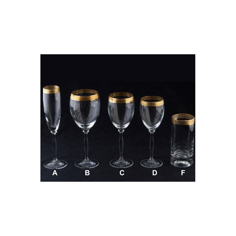Imperial Gold Glassware For Sale