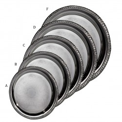 Round Silver Trays