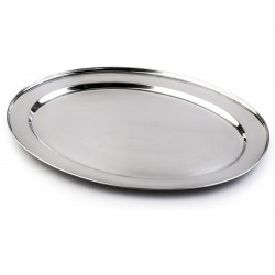 "25"" Oval Silver Tray"