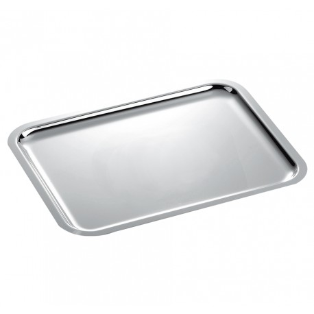 "33"" Rectangular Silver Tray"