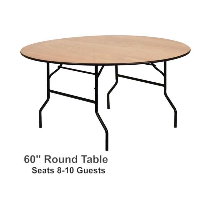 Round Table 60 Seats 8 How Many People Does A 60 Round