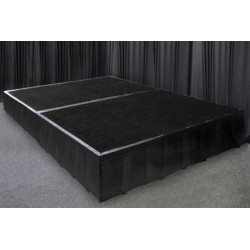 Portable Stage Black Carpet