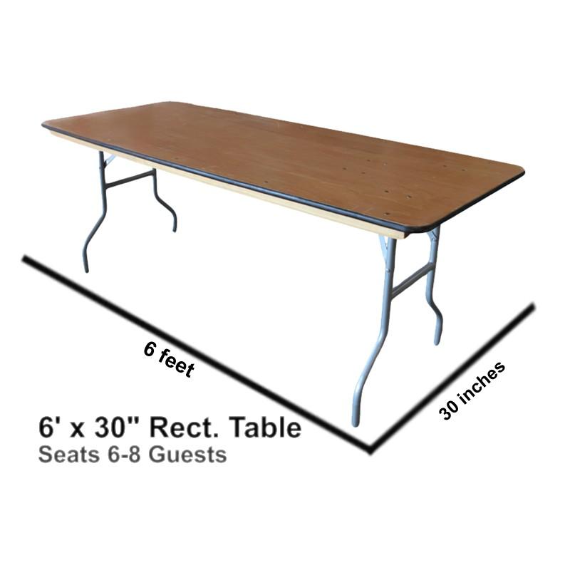 ... Rectangular Table ...